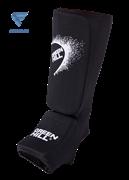 Защита голень-стопа Green Hill SIC-6131, х/б, черная