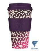 Кофейный эко-стакан 400 мл, Звездный виноград.