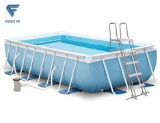 Каркасный бассейн Intex 26784 + фильтр-насос, лестница (300х175х80см)