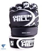 Перчатки для MMA-0057, к/з, черные Green Hill