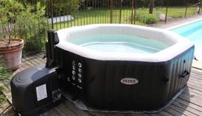 Надувной бассейн джакузи Intex 28456/28462 PureSpa Jet and Bubble Deluxe + хлоргенератор