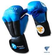 Перчатки для рукопашного боя PRO, к/з, синий Rusco Sport