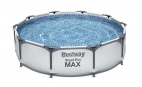 Каркасный бассейн Bestway 56408 305х76 см (серый)