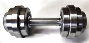 Гантель разборная 9 кг (металлическая)