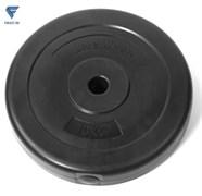 Диск пластиковый Lite Weights 1085LW 26мм 10кг, черный