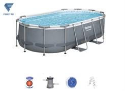 Каркасный бассейн на опорах Power Steel Bestway 56620 + фильтр-насос