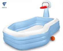 Бассейн с баскетбольным кольцом 257х188х130см Intex 57183