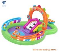 Игровой центр music land с разбрызгивателем, горкой и шариками BestWay 53117