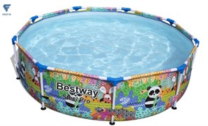 Каркасный бассейн с принтом Bestway 5612F 274х66 см