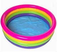 Детский надувной бассейн 4 кольца 168х46 см, от 3 лет. INTEX 56441