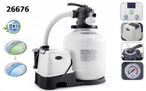 Песочный фильтр насос + хлорогенератор для бассейна (6000л/ч) Intex 26676 /28676