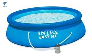 Надувной бассейн Intex 28118 EASY SET + фильтр насос 305х61см