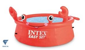 Надувной круглый бассейн Easy Set Intex 26100 (Happy Crab 183х51см)