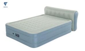 Надувная кровать со спинкой 152х229х79см, встр.насос 220 Bestway 69060