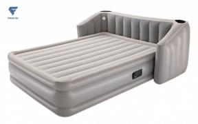 Надувная кровать со спинкой, подстаканником и подсветкой, встр.насос 220В, bestway 67620