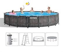 Каркасный бассейн Greywood Prism Frame Intex 26744 фильтр-насос+лестница+тент+подстилка