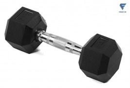 Гантель гексагональная обрезиненная Lite Weights 3180LW, 4кг
