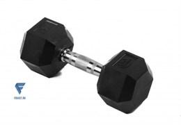 Гантель гексагональная обрезиненная Lite Weights 3186LW, 10кг