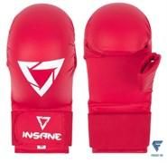 Накладки для карате с защитой пальца SCORPIO, ПУ, красный