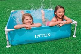 Детский каркасный бассейн голубой  122х122х30 см. INTEX 57173