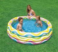 Надувной детский бассейн аквариум 132х28 см, от 3 лет. INTEX 59431