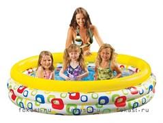 Детский надувной бассейн геометрия 168х41 см, от 3 лет. INTEX 58449