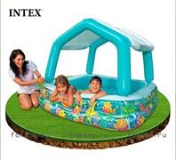 Бассейн прямоугольный с навесом INTEX 57470