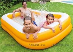 Надувной бассейн мандарин 229х147х46см, от 6 лет. INTEX 57181