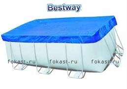 Тент для прямоугольного каркасного бассейна (404х201х100)(412х201х122) Bestway 58232