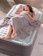 Надувная кровать INTEX 64412 Односпальная со встр. насосом 220В (99х191х46)