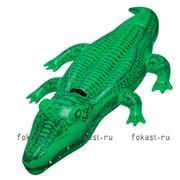 Надувной плотик Крокодил 203х114 см,от 3 лет. INTEX 58562