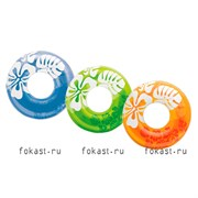 Надувной круг Clear Colir, 91см, от 9 лет,  3 цвета INTEX 59251