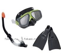 Набор маска, трубка, ласты, Surf Rider. INTEX 55959