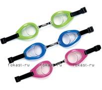 Очки для плавания Pro Racing Goggles, 3 цвета. INTEX 55691