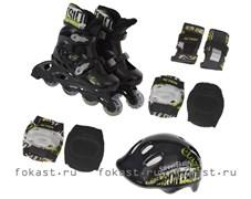Набор: коньки ролик, защита, шлем р.35-38 PW-120B