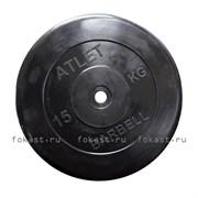 Диск обрезиненный черный MB ATLET d-26 15кг