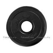 """Диск (блины)  для штанги 2,5 кг (d-50mm) обрезиненный черный """"Lite Weights"""" RJ1034"""