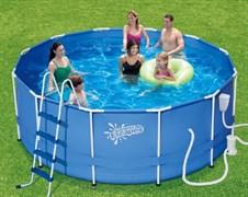 """Каркасный бассейн """"SummerEscapes"""" P20-1248-B+фильт насос, лестница, тент, подстилка, набор для чистки, скиммер (366х122)"""
