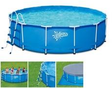 """Каркасный бассейн """"SummerEscapes"""" P20-1339-B+фильт насос, лестница, тент, подстилка, набор для чистки, скиммер (396Х99)"""