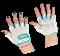 Перчатки для фитнеса SU-110, белые/голубые - фото 11653