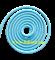 Скакалка для художественной гимнастики RGJ-104, 3м, голубой - фото 11865