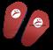 Лапы прямые Rusco, кожзам, пара, красный/синий - фото 11940