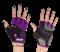 Перчатки для фитнеса STARFIT SU-113, черный/фиолетовый/серый - фото 12626