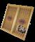 Нарды средние, с деревянными с шашками, тонированные - фото 12657
