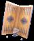 Нарды средние, с деревянными шашками, цветной рисунок - фото 12659