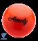 Мяч для художественной гимнастики AGB-101, 15 см, оранжевый - фото 15979