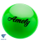 Мяч для художественной гимнастики AGB-101, 15 см, зеленый - фото 15981