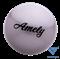 Мяч для художественной гимнастики AGB-101, 15 см, серый - фото 15986