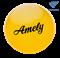 Мяч для художественной гимнастики AGB-102, 15 см, желтый, с блестками - фото 15989