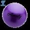 Мяч для художественной гимнастики AGB-101, 19 см, фиолетовый - фото 16001